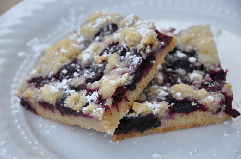 amish blueberry shortbread