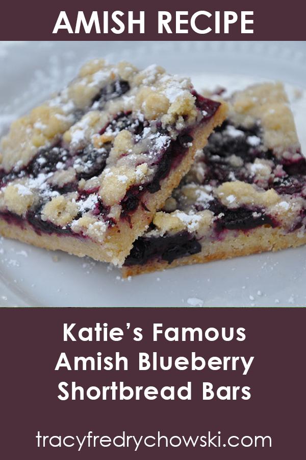 Amish Recipe - Blueberry Bars