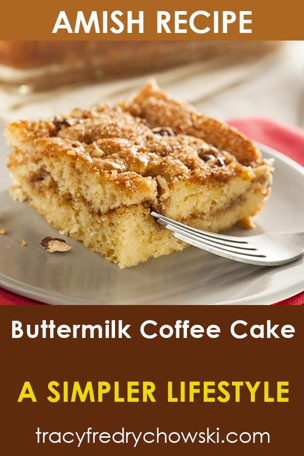 Amish Buttermilk Coffee Cake