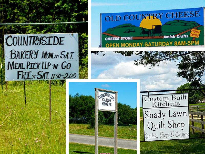 Amish signs