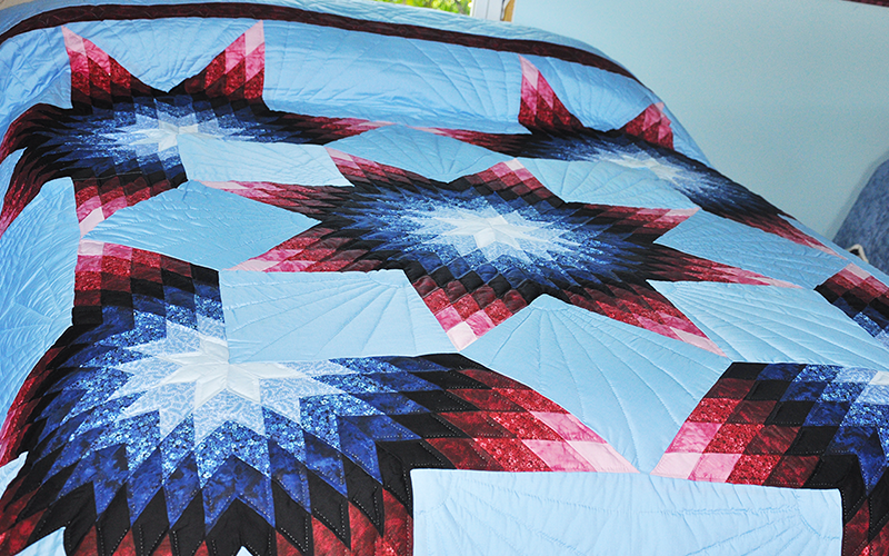 Amish Quilt Handmade – Queen Size, Radiant Star