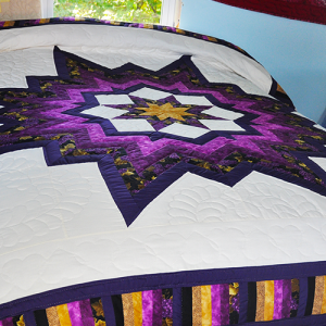 Amish Hand Made Quilt – King Size, Royal Star of Kansas