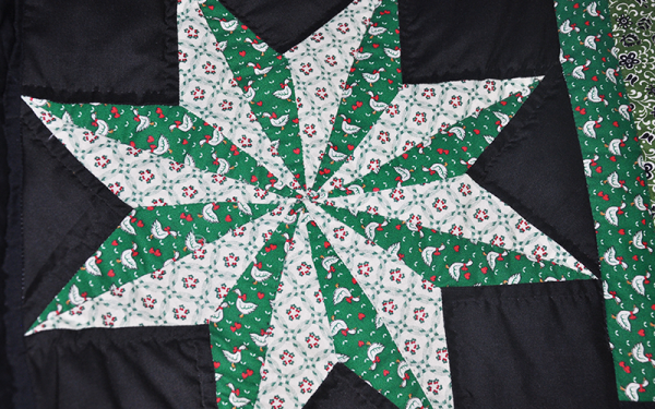 Amish Christmas Quilt – King Size, Twinkling Stars