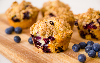 Maggie's Blueberry Crumb Muffins